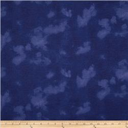 "108"" Wide Flannel Mottled Dark Blue"
