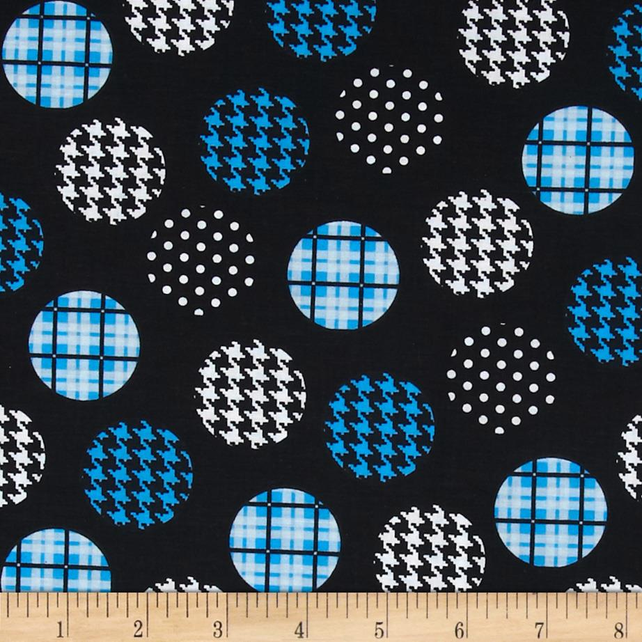 Spotlight Large Patterned Dots Turquoise/Black