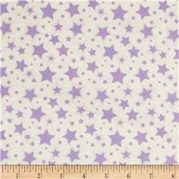 Dreamland Flannel Starry Night White/Lavender Lily