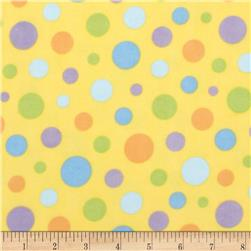 The Land Before Time Flannel Dot Yellow