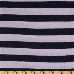 Designer Hatchi Sweater Jersey Knit Stripes Navy/Lavender