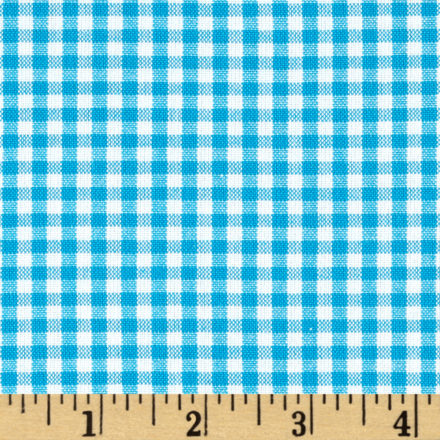 Kaufman 1/8'' Carolina Gingham Turquoise Fabric