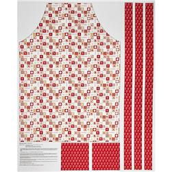 Riley Blake Ooh La La Adult Apron Panel Red