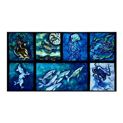"Kaufman Wilderness Expressions Ocean 24"" Panel Ocean"