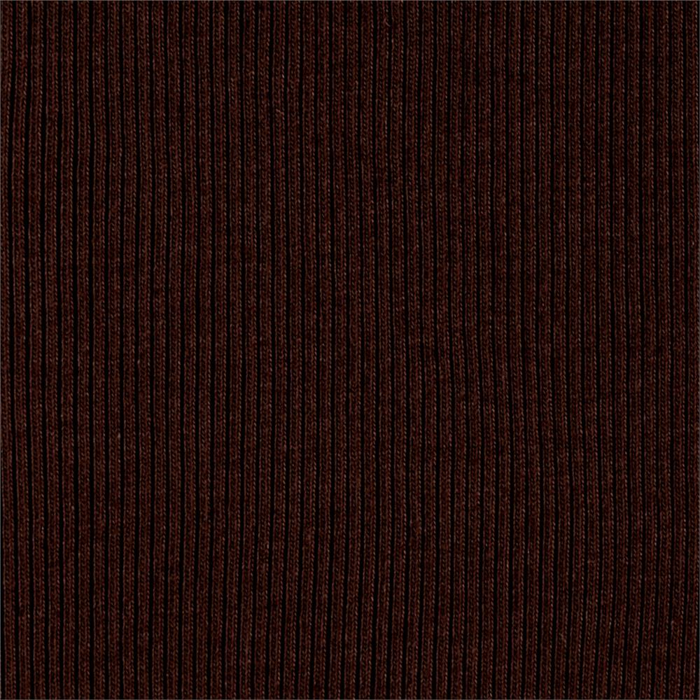 Rib 2x1 Knit Solid Brunette