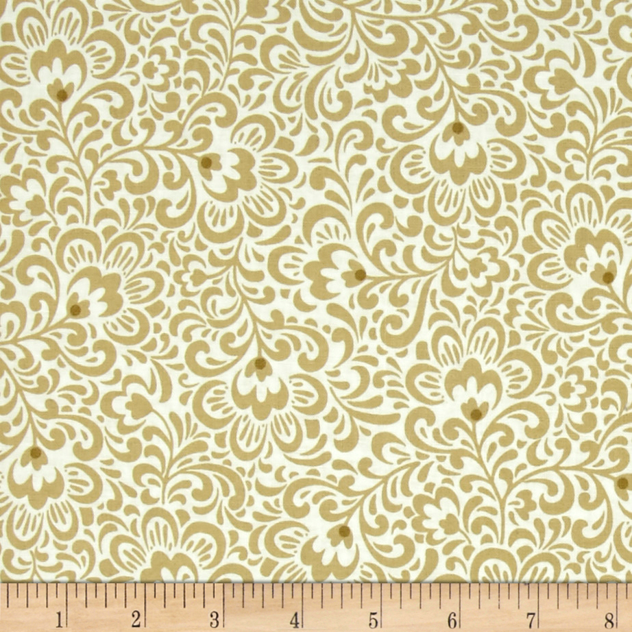 Trailing Florence Light Tan Fabric by Red Rooster in USA