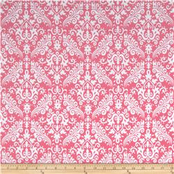 Riley Blake Flannel Medium Damask Hot Pink Fabric