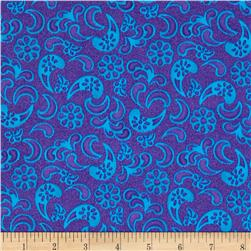 Soleil Tone on Tone Paisley Purple