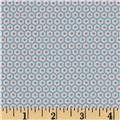 Riley Blake Flannel Snug as a Bug Flowers Aqua