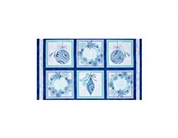 Winter Frost Ornament & Wreath Patches Blue