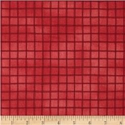 Woodsy Wonders Windowpane Check Red