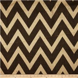 60'' Sultana Chevron Burlap Florida Sand/Brown Fabric