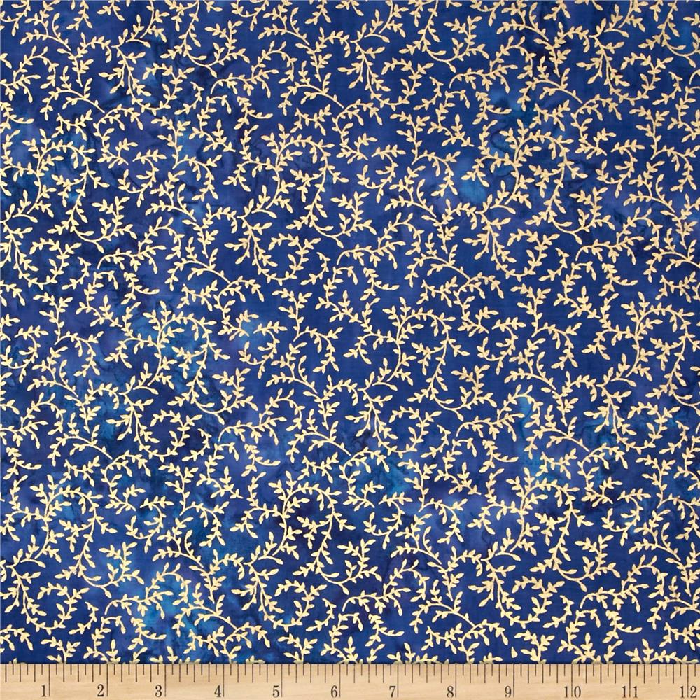 Indian Batik Montego Bay Vine Metallic Royal