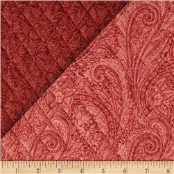 Lauren Double Sided Quilted Paisley Rust Fabric