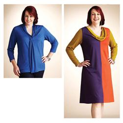 Kwik Sew Women's Cowl Dress & Tie Top