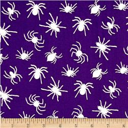 Ready Set Glow In The Dark Spiders Purple
