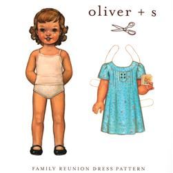 Oliver + S Family Reunion Dress Pattern Size 6M-4