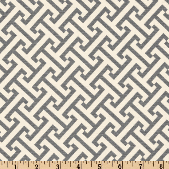 Waverly Cross Section Charcoal Fabric