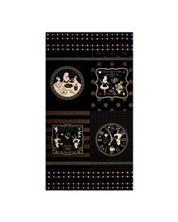 "Lecien Girls Story Alice Canvas 23.5"" Panel Black"