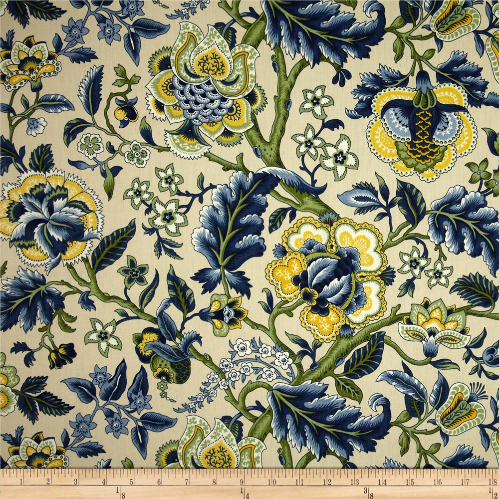Waverly imperial dress twill blue discount designer for Modern fabrics textiles