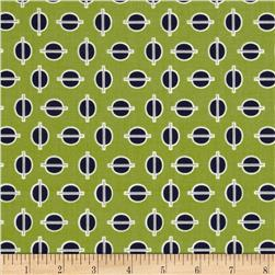 Riley Blake Gracie Girl Dots Green Fabric