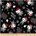 Hello Kitty Skeletons Black