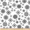 Winter Essentials II Snowflake Black on White