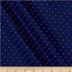 "108"" King Quilt Backs Dot Dark Blue"