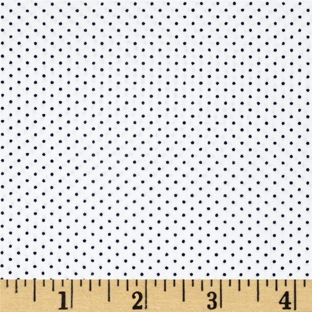 Kaufman Sevenberry Petite Basics Mini Dot Marine