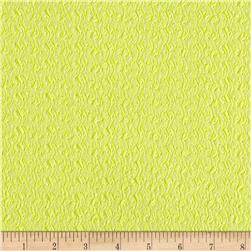 Stretch Jacquard Knit Neon Yellow