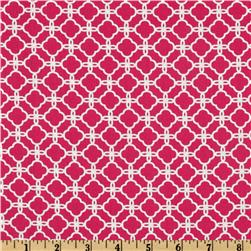 Pimatex Basics Chain Link Hot Pink/White Fabric