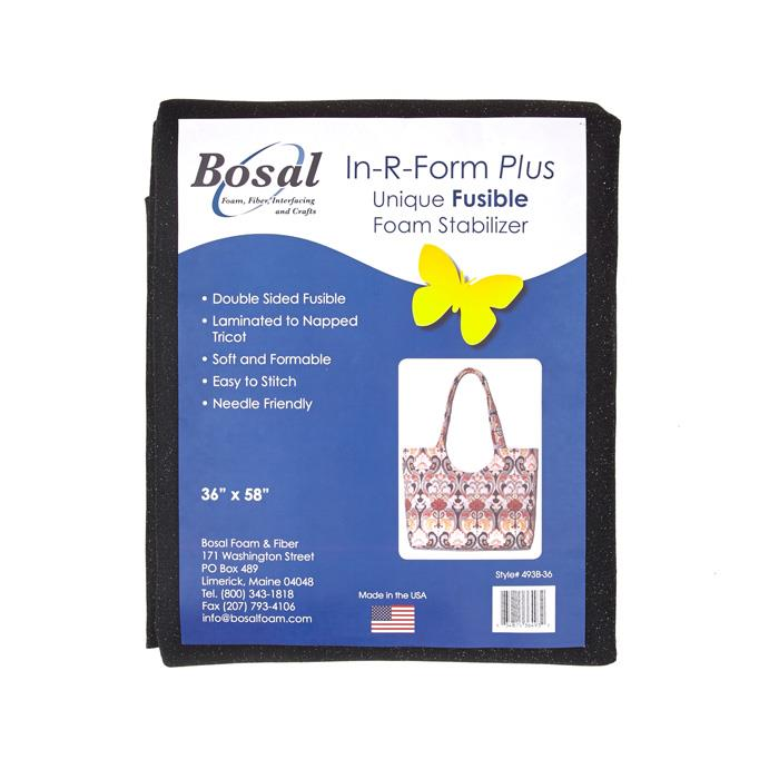 Bosal In-R-Form Double Sided Fusible 1 yard Foam Stabilizer Black