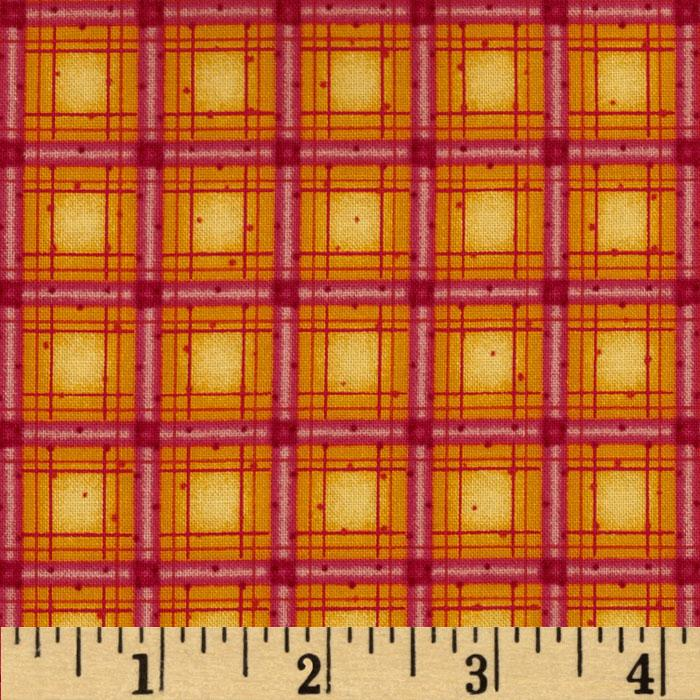 Winter Parade Plaid Red Orange
