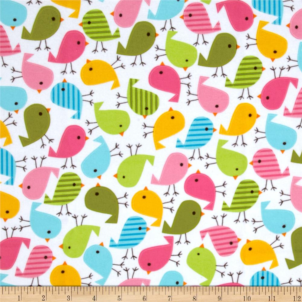 Urban zoologie flannel birds sweet discount designer for Cute baby fabric prints