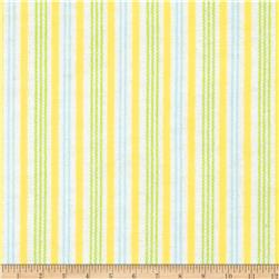 Aunt Polly's Flannel Stripe Yellow/Green/Blue