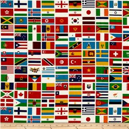 Riley Blake Our World Flag White
