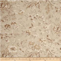 Cottage Garden Butterfly Floral Dark Cream