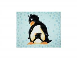 Susybee Gwyn the Penguin Gwyn Penguin 36 In. Panel Aqua