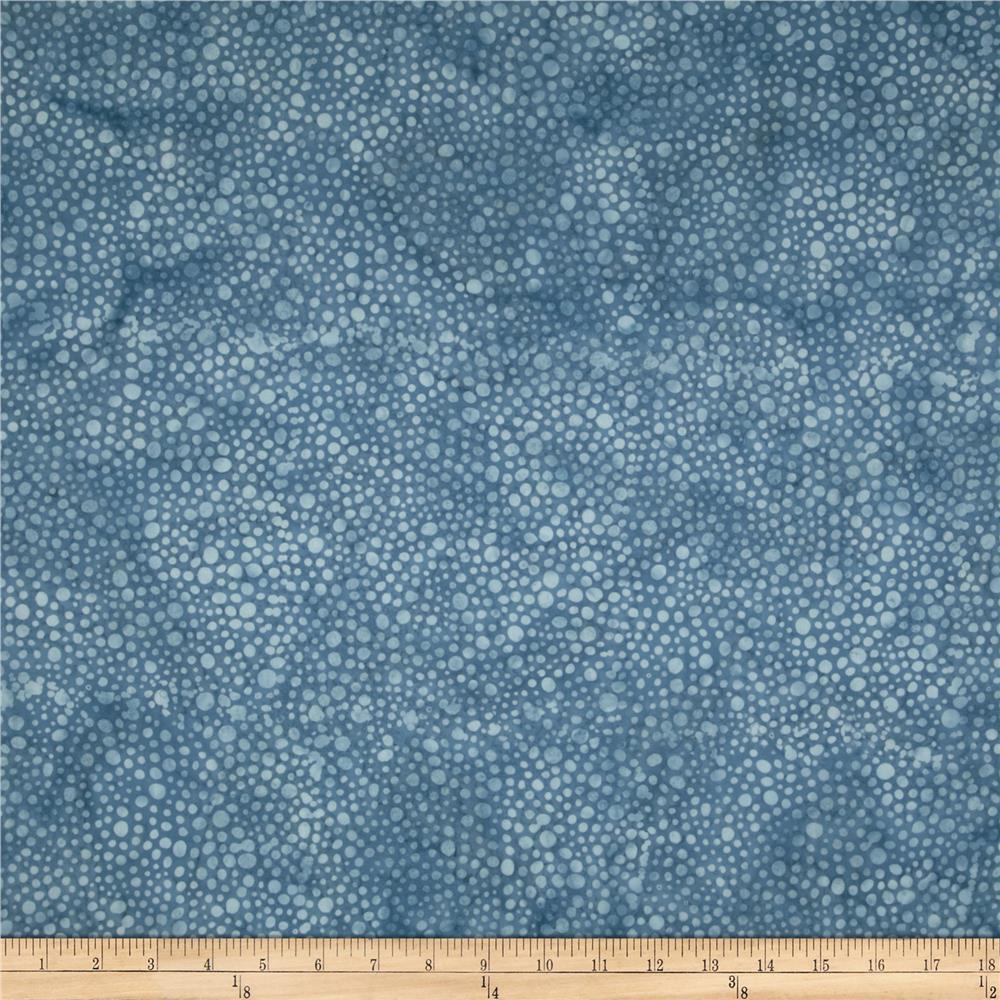 Bali Batiks Handpaints Dots Cornflower