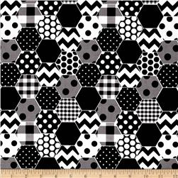 Riley Blake Hexi Print Black
