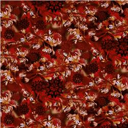 Judy Niemeyer Wildflowers Watermark Foliage Rust