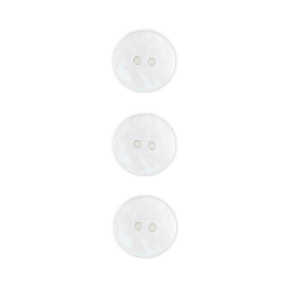 1/2'' Mother of Pearl Buttons White