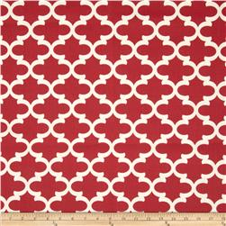 Premier Prints Fulton Macon Timberwolf Red Fabric