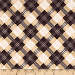 Kanvas North by Northwest Flannel Mad for Plaid Beige