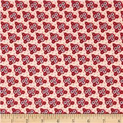Edith Triangle Floral Cranberry