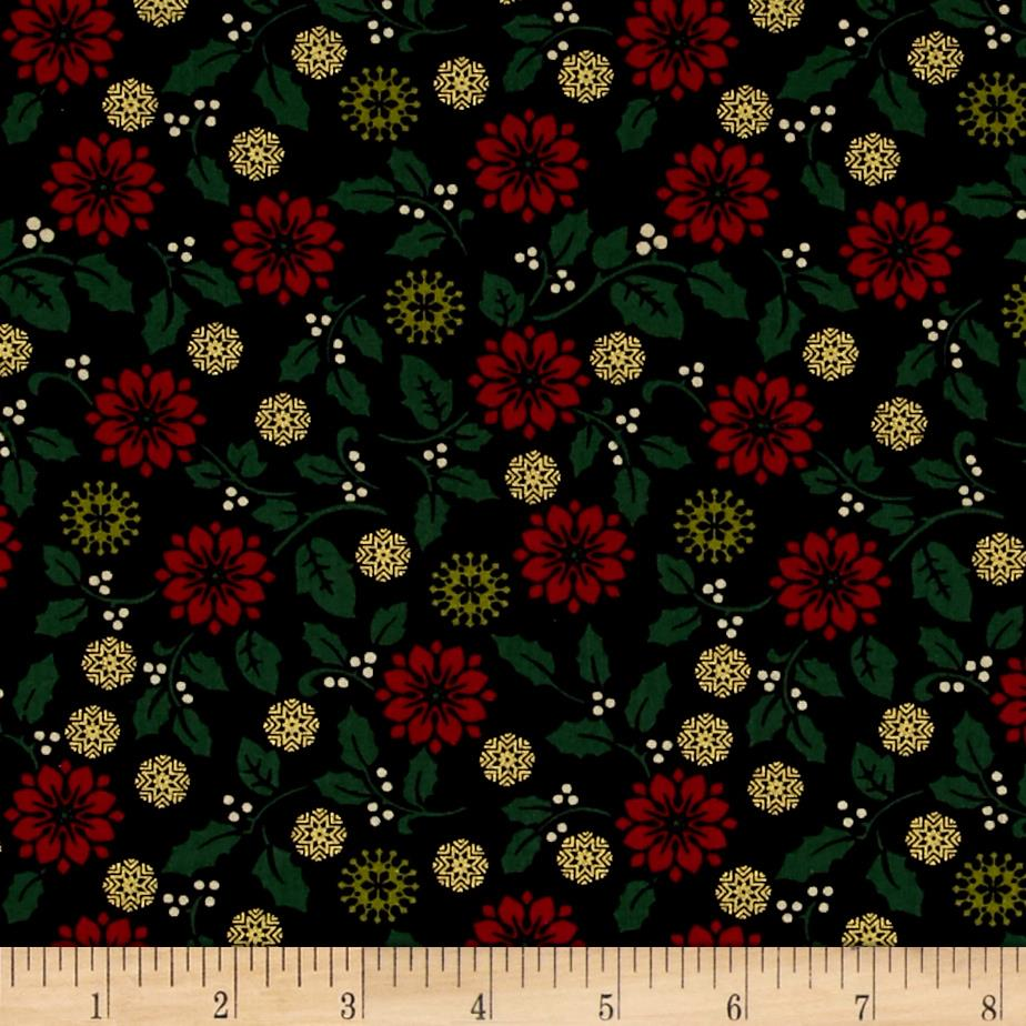 Ornamental Splendor Metallic Poinsetta Splendor Black/Multi