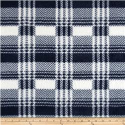 Fleece Print Plaid Gray/White