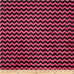 Minky Mini Chevron Hot Pink/Black