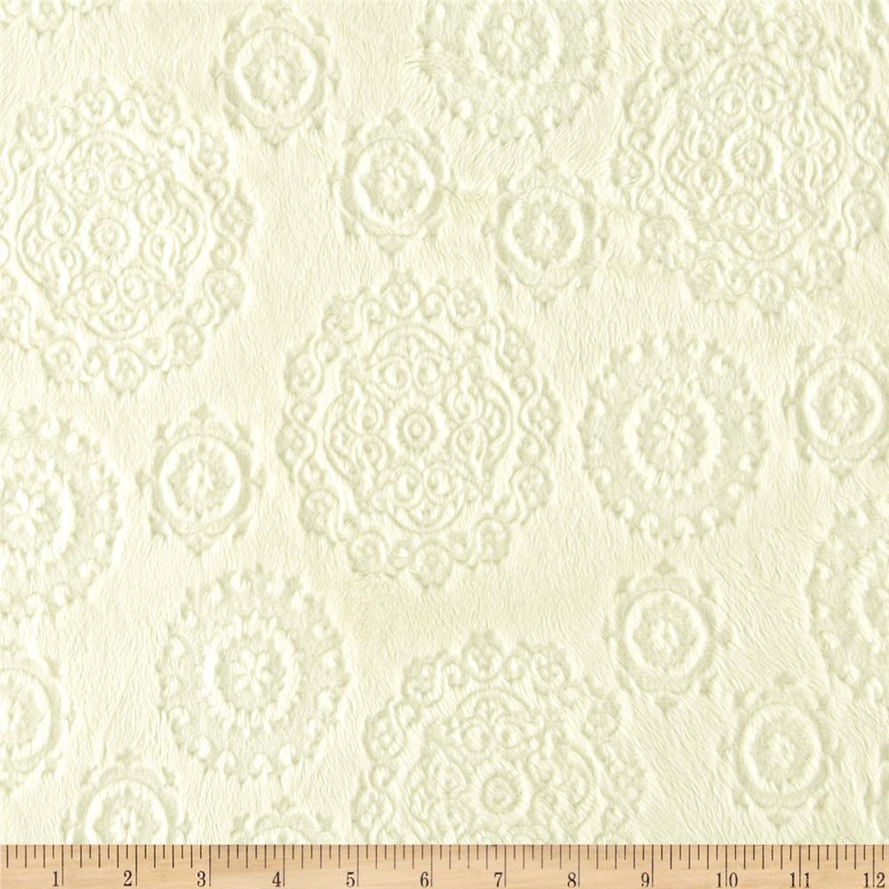 Minky Cuddle Majestic Embossed Mirage Cream