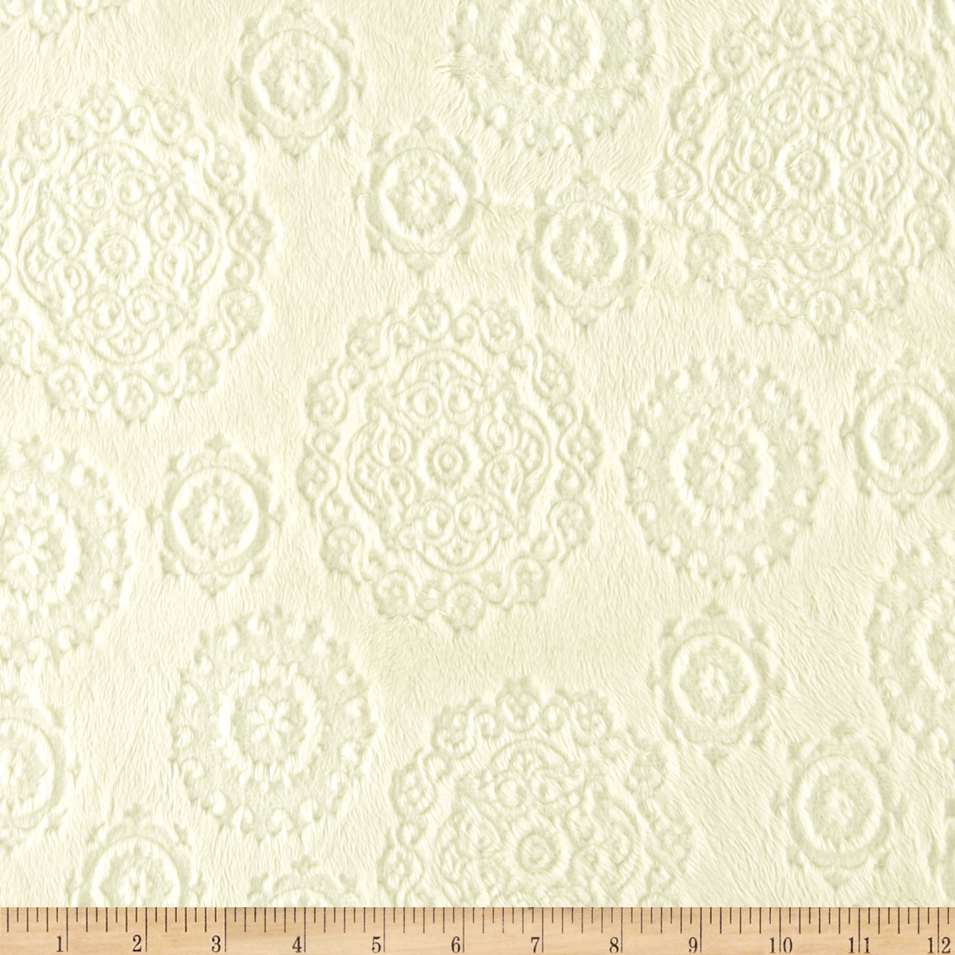 Minky Cuddle Majestic Embossed Mirage Cream Fabric